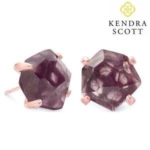 NWT Kendra Scott Sable Mica Stud earrings